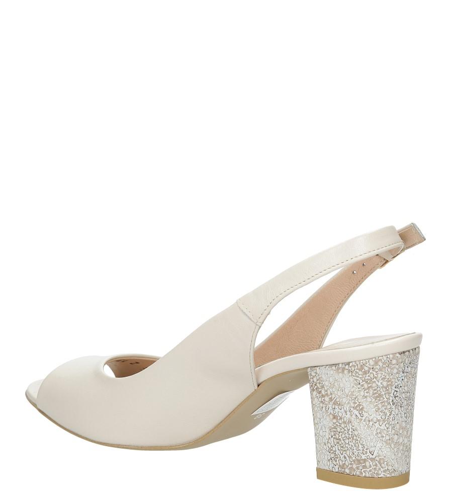 Beżowe sandały skórzane z ozdobnym obcasem Casu CAS003 wysokosc_obcasa 7.5 cm