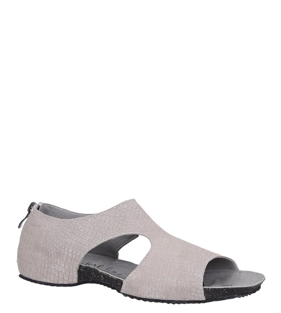 Beżowe sandały skórzane z zakrytą piętą Casu DS071/19PI beżowy
