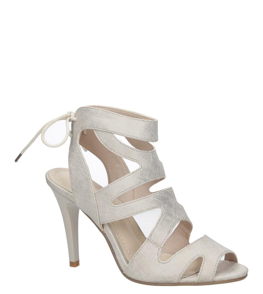 Beżowe sandały szpilki z ozdobnym wiązaniem Sergio Leone SK815-10X producent Sergio Leone
