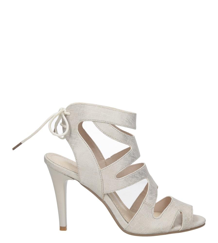 Beżowe sandały szpilki z ozdobnym wiązaniem Sergio Leone SK815-10X sezon Lato