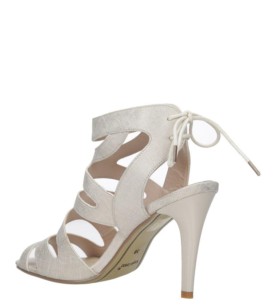 Beżowe sandały szpilki z ozdobnym wiązaniem Sergio Leone SK815-10X wysokosc_obcasa 10.5 cm