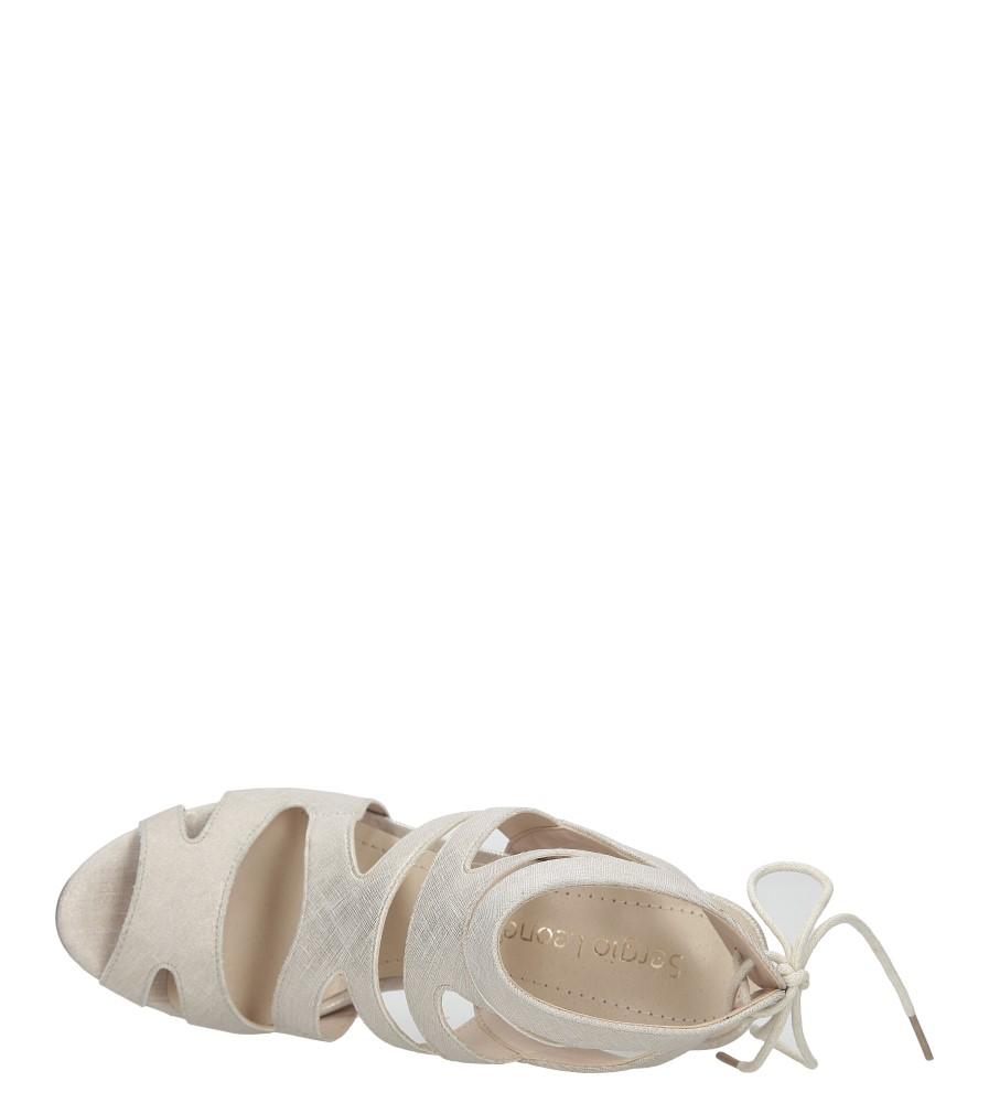 Beżowe sandały szpilki z ozdobnym wiązaniem Sergio Leone SK815-10X wysokosc_platformy 0.5 cm