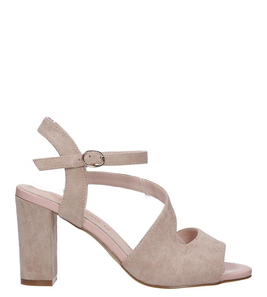 Beżowe sandały z paskiem przez środek na szerokim słupku Sergio Leone SK868 wysokosc_platformy 0.5 cm
