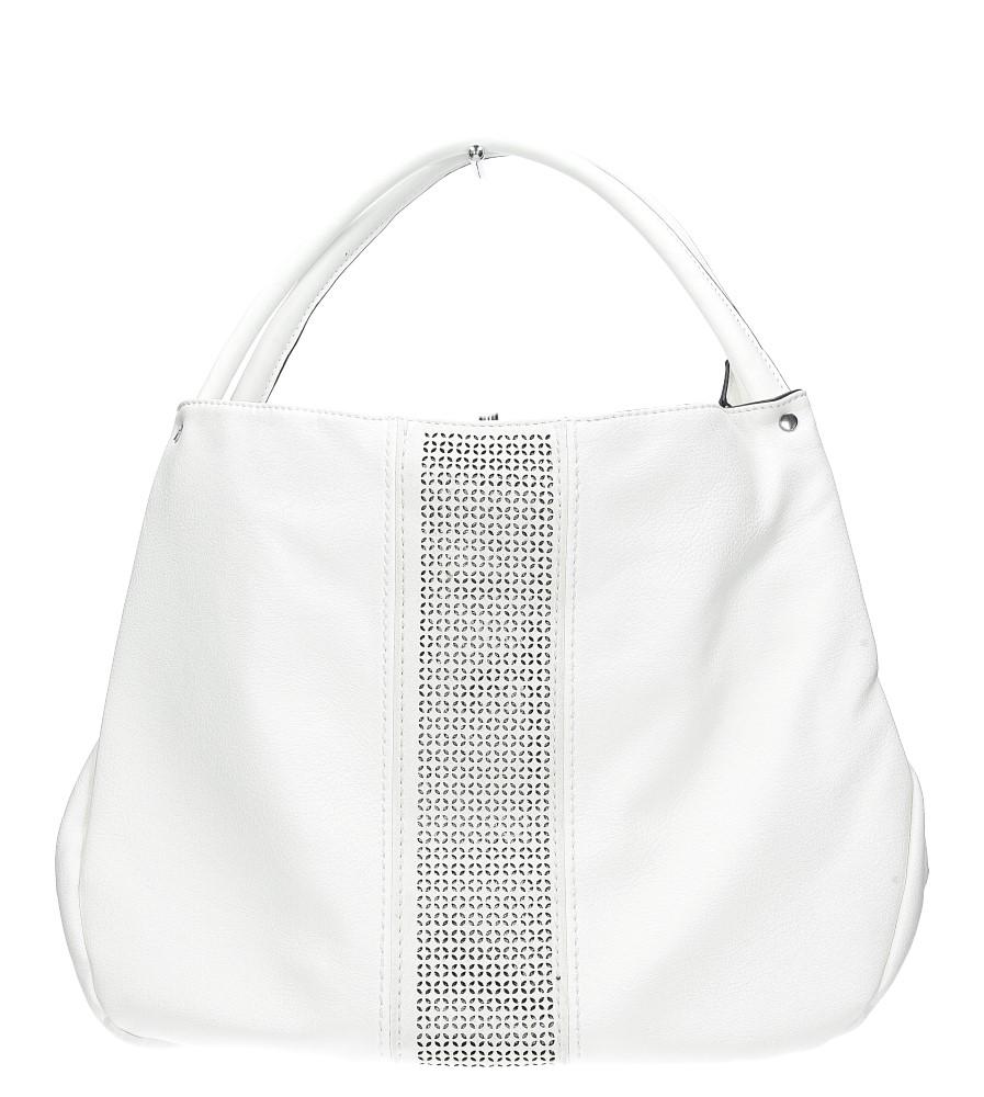 Biała torebka z ażurowym wykończeniem Casu 2065 producent Casu