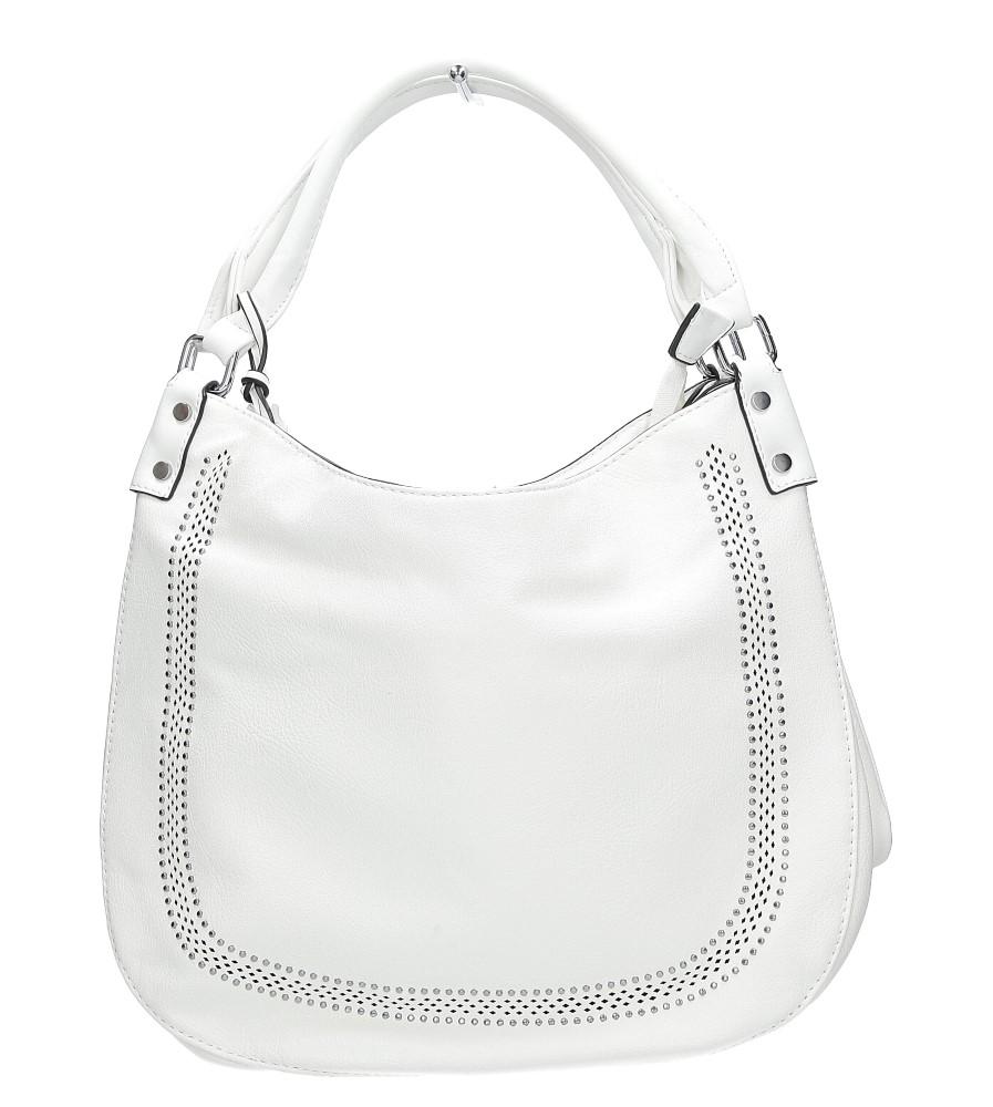 Biała torebka z nitami Casu 2060
