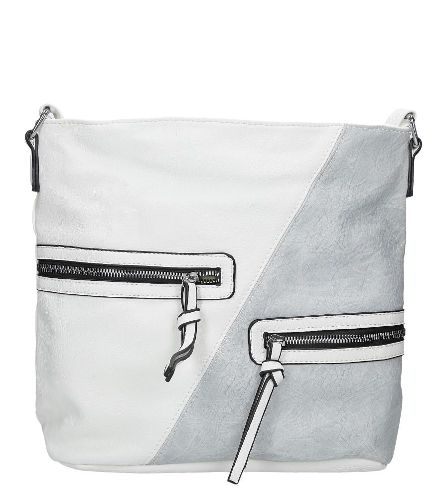 Biała torebka z ozdobnymi suwakami Casu 9262