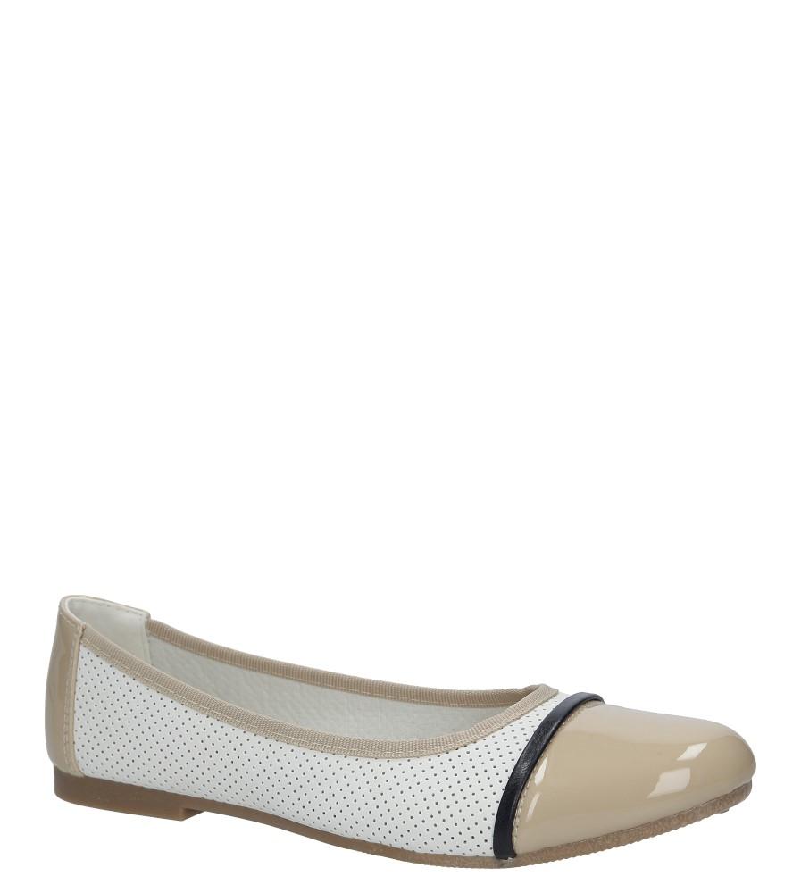 Białe baleriny ażurowe Casu DD338-3