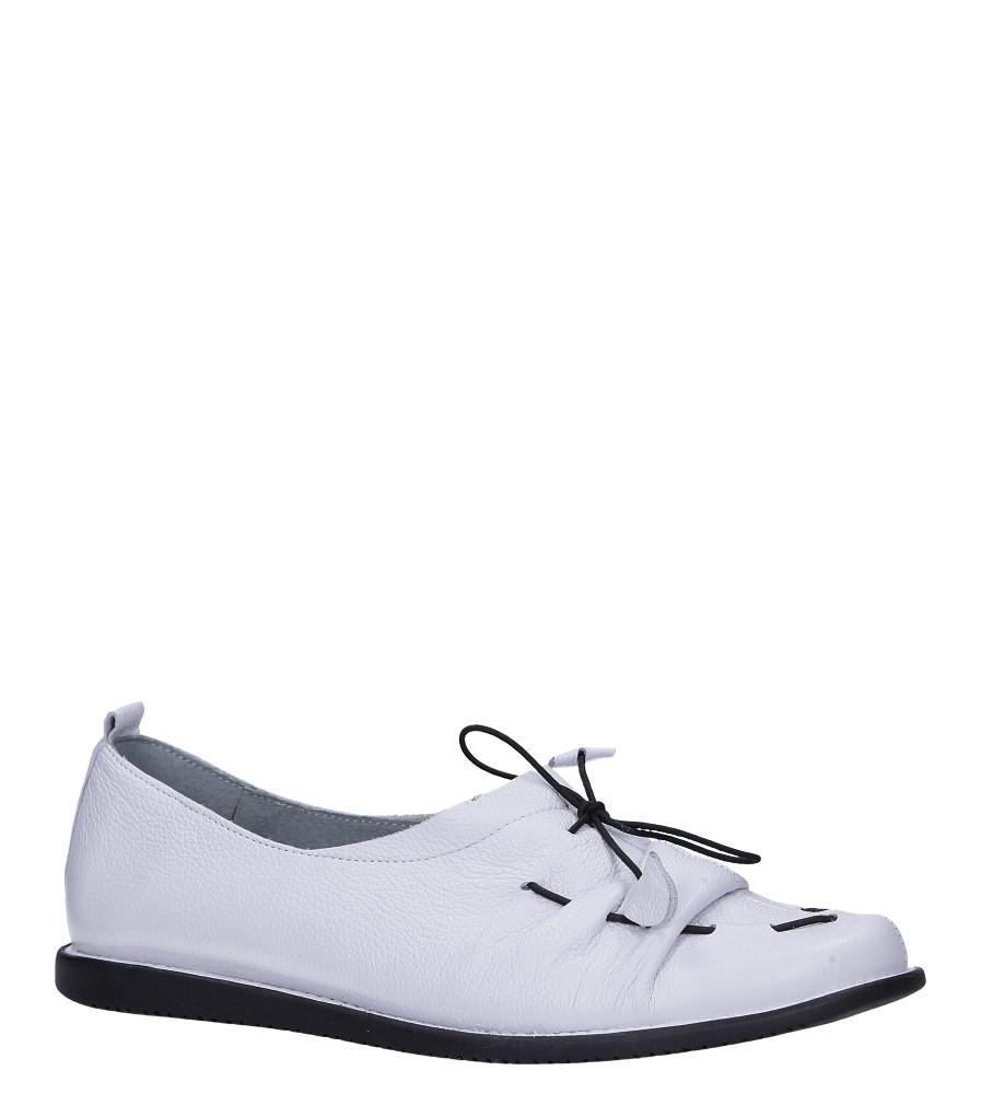 Białe baleriny skórzane z ozdobnym wiązaniem Maciejka 04095-11/00-5