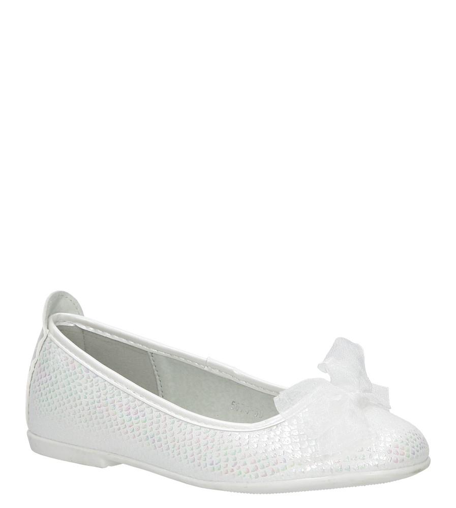 Białe baleriny z kokardą S.Barski 5673-3D