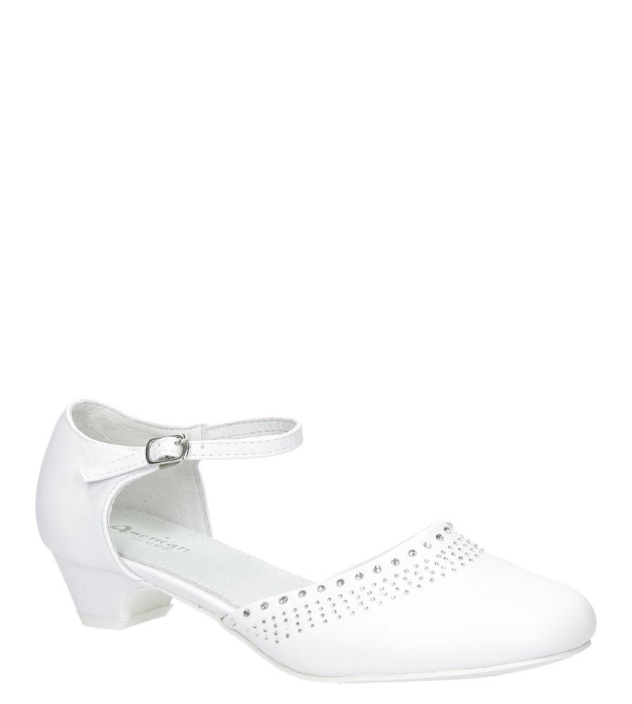 Białe buty komunijne z cyrkoniami American KOM-2/2018