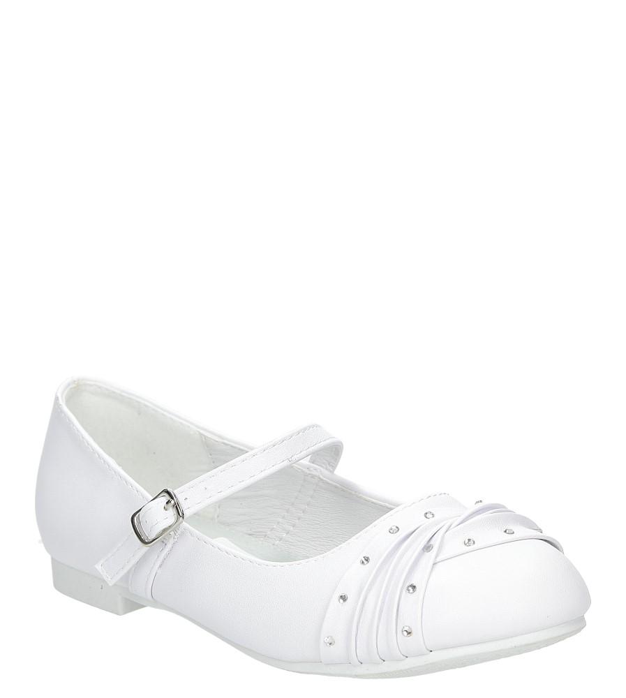 Białe buty komunijne z cyrkoniami American KOM-6/2018