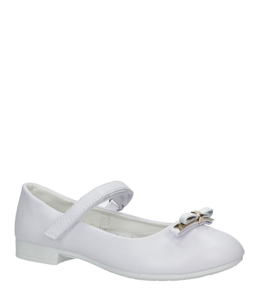 Białe buty komunijne z kokadrą Casu SH03AC-1