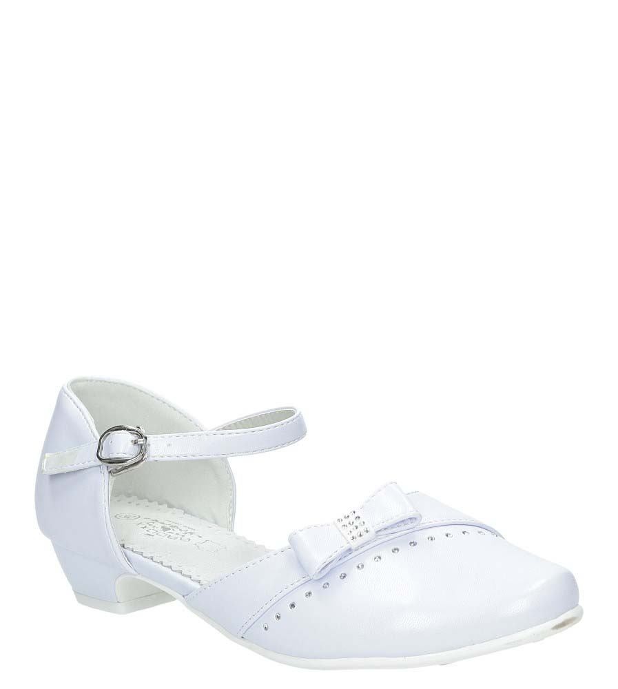 Białe buty komunijne z kokardą Casu 7KM-222