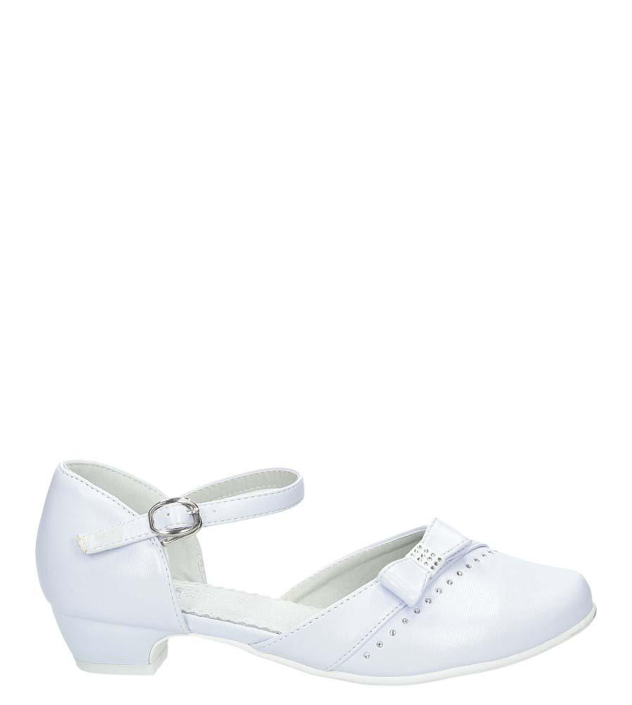 Białe buty komunijne z kokardą Casu 7KM-222 biały