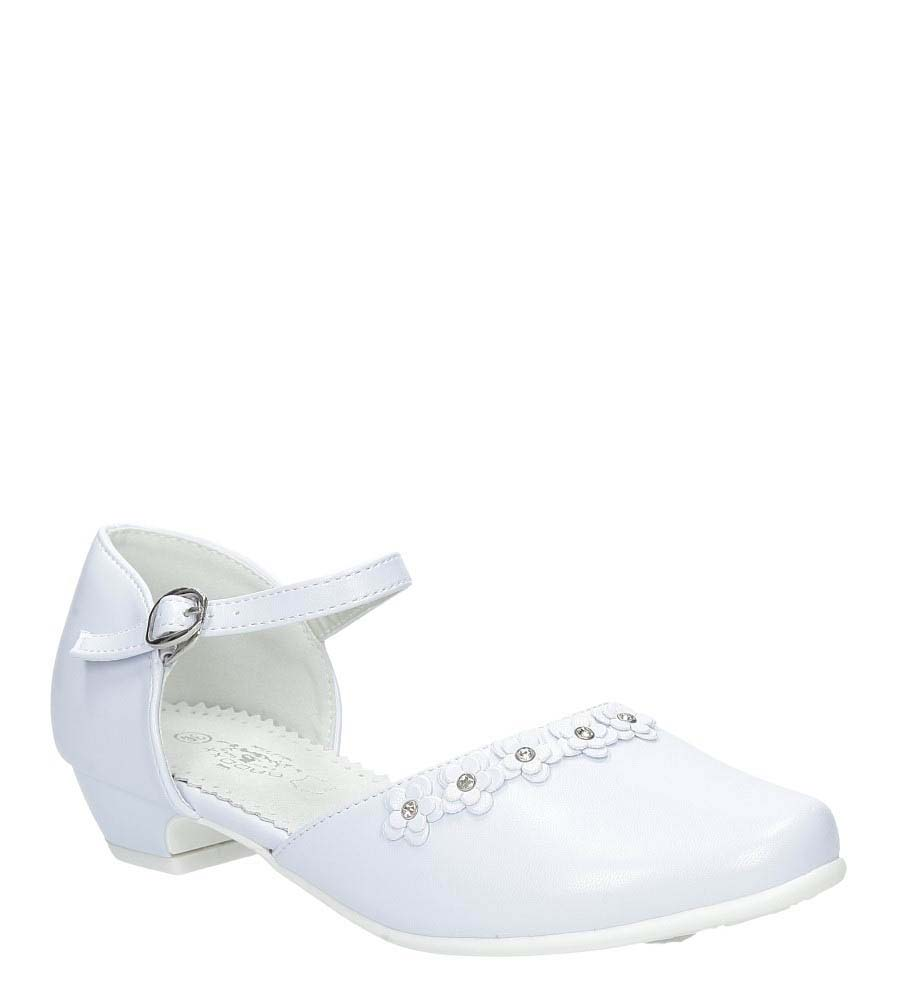Białe buty komunijne z kwiatkami Casu 7KM-223 producent Casu