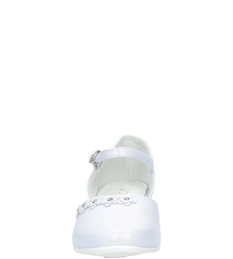 Białe buty komunijne z kwiatkami Casu 7KM-223 sezon Całoroczny