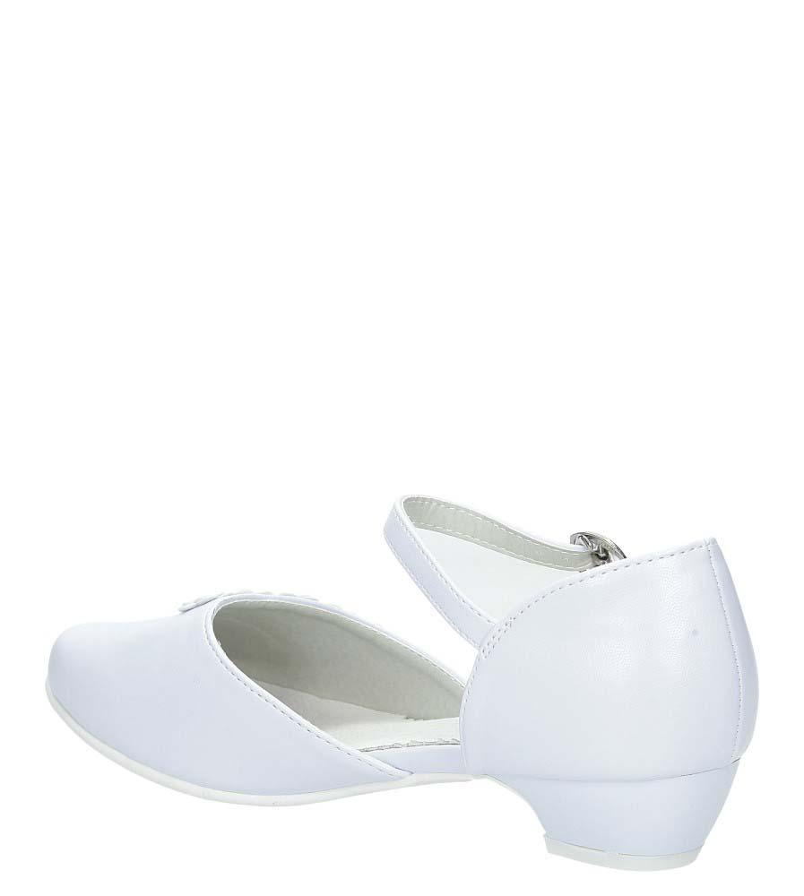 Białe buty komunijne z kwiatkami Casu 7KM-223 kolor biały, jasny niebieski