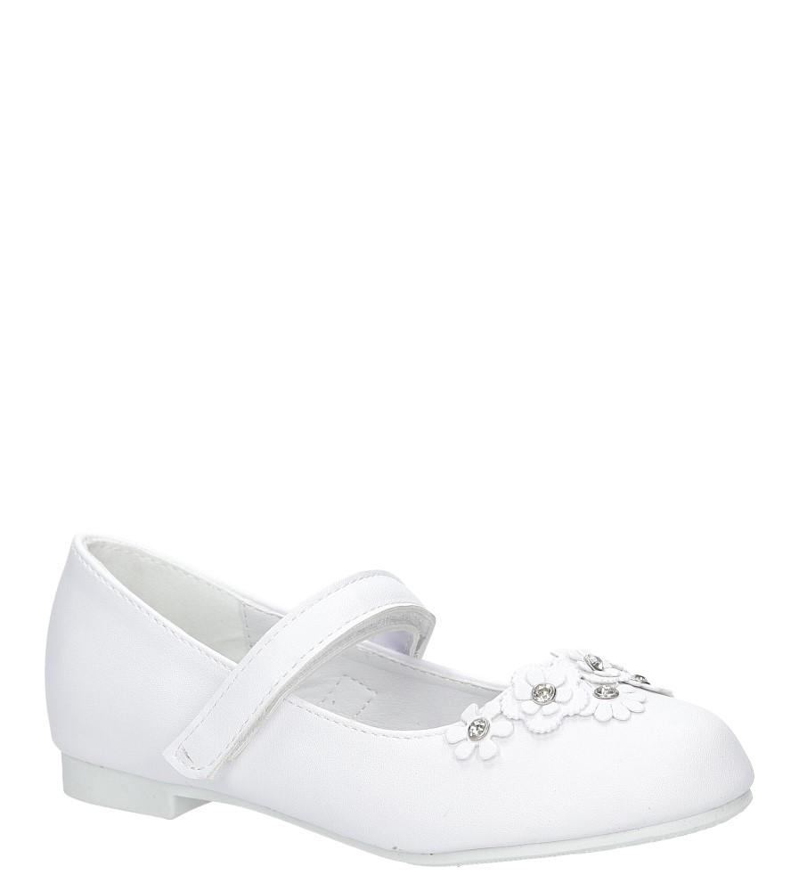 Białe buty komunijne z kwiatkami na rzep American KOM-7/2018 biały