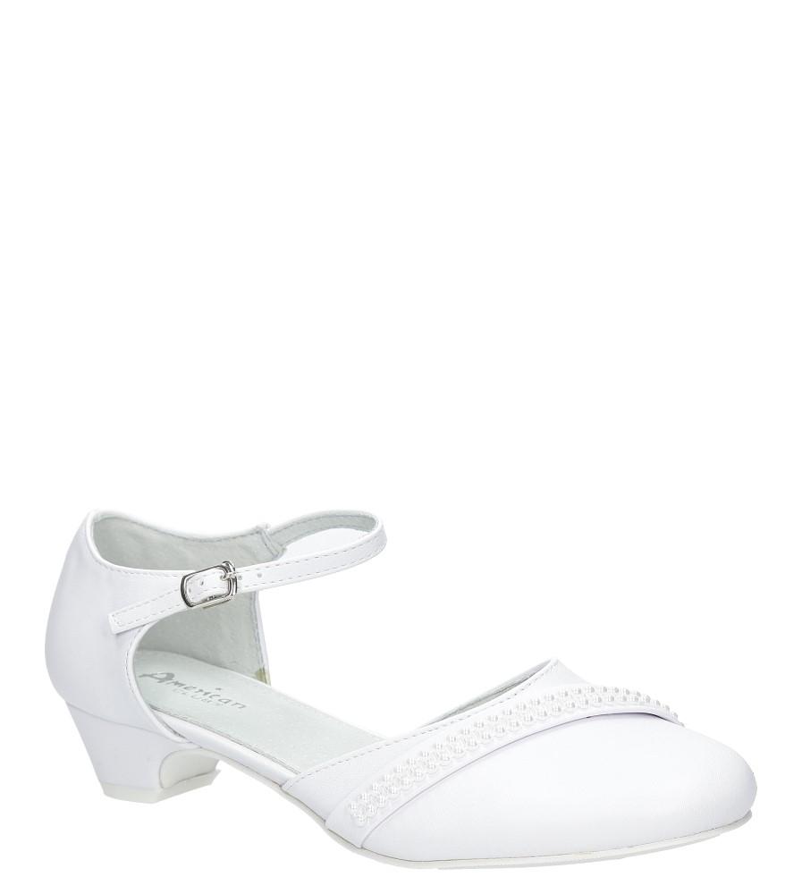 Białe buty komunijne z perełkami American KOM-3/2018