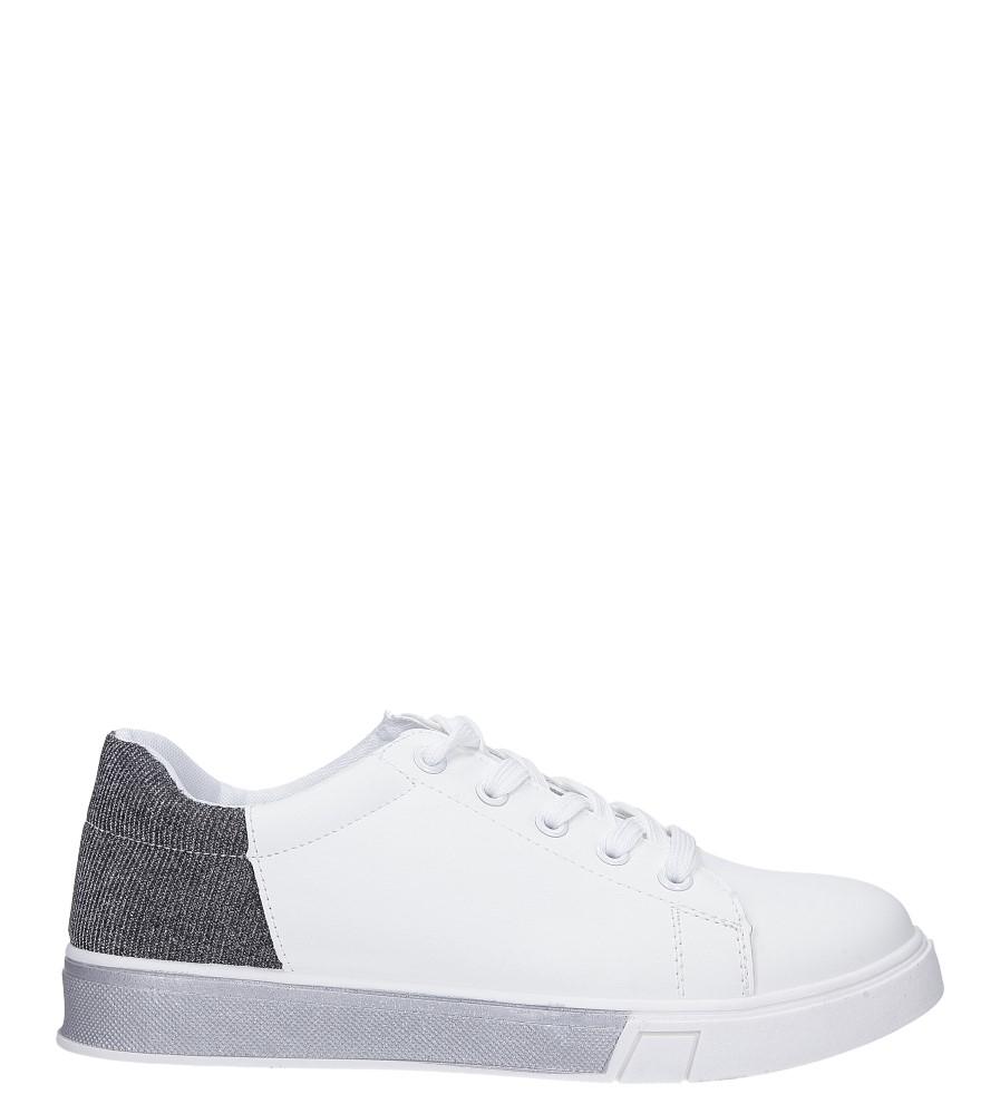 571b60d3 ... Białe buty sportowe brokatowe sznurowane Casu 02004(D0611)  wysokosc_platformy 2 cm ...