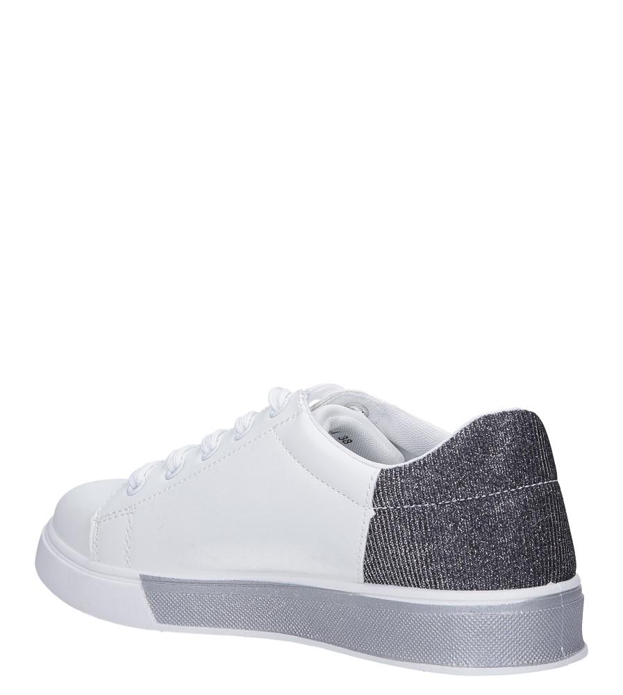 bc55066d Buty Białe buty sportowe brokatowe sznurowane Casu 02004(D0611) - Sklep Casu .pl