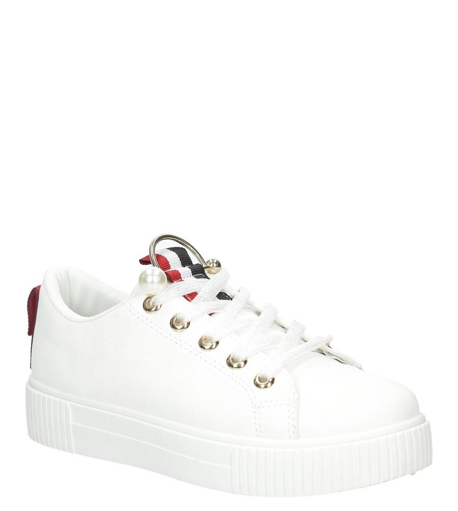 Białe buty sportowe creepersy Casu 123-2