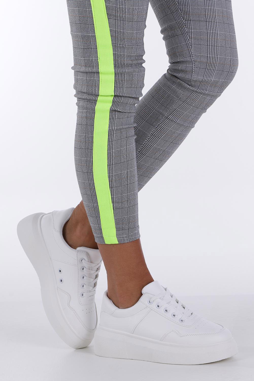 Białe buty sportowe creepersy sznurowane Casu 02001(D0619)