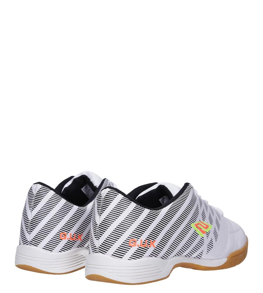 Białe buty sportowe halówki Casu A1713-2 wysokosc_platformy 1.5 cm