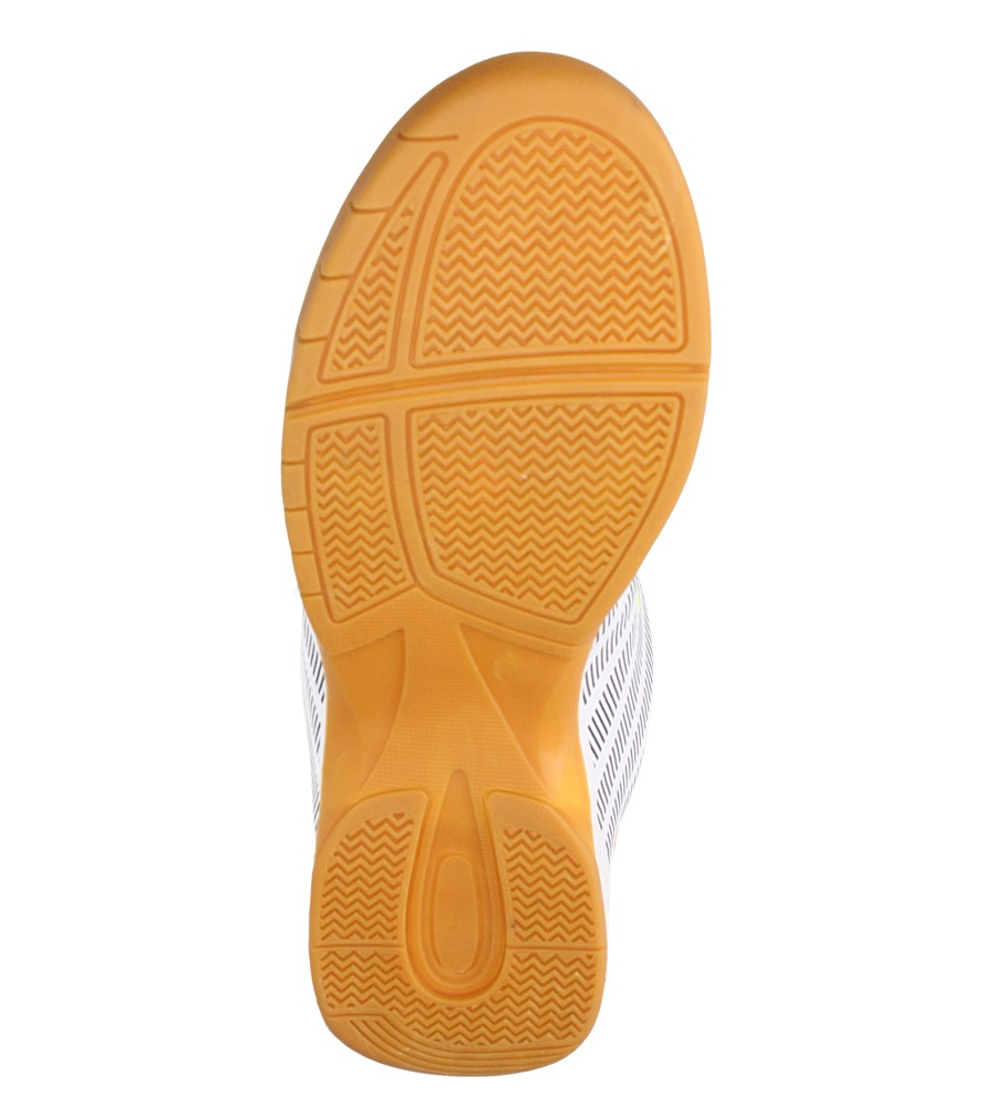 Białe buty sportowe halówki Casu A1713-2 wierzch skóra ekologiczna