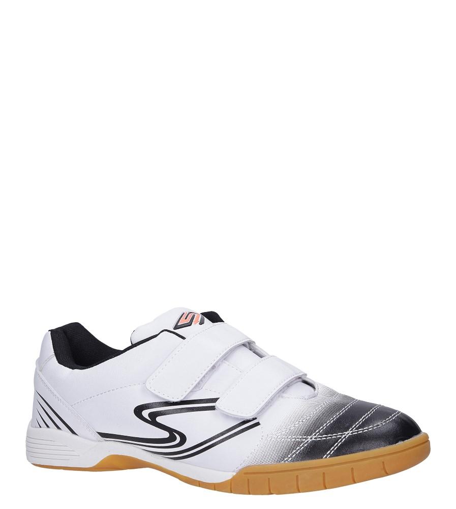 Białe buty sportowe halówki na rzepy Casu A1712-2 producent Casu