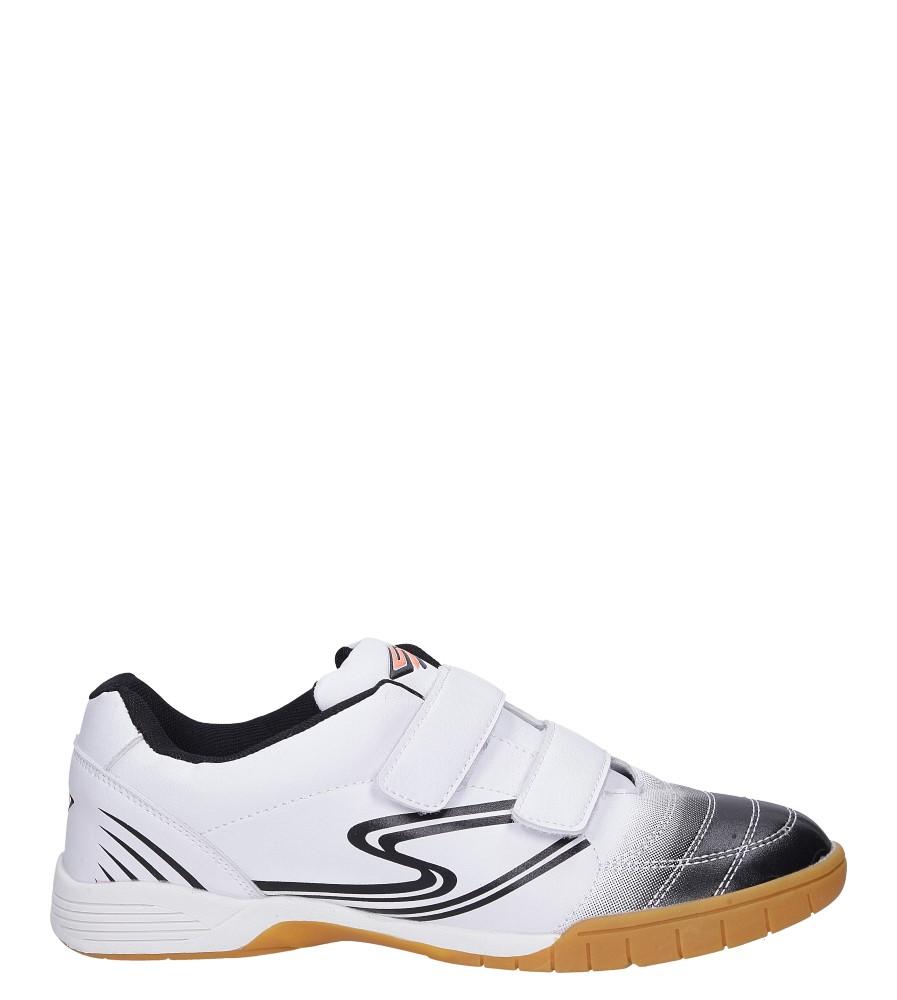 Białe buty sportowe halówki na rzepy Casu A1712-2