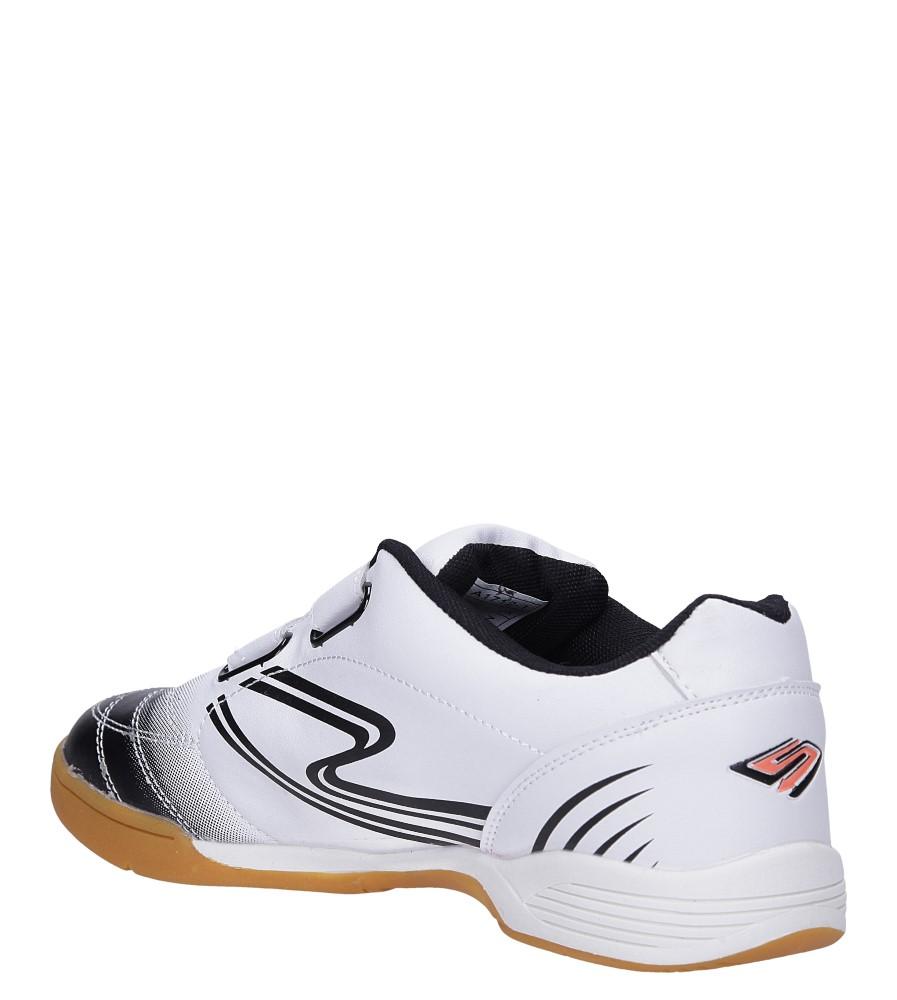 Białe buty sportowe halówki na rzepy Casu A1712-2 sezon Całoroczny