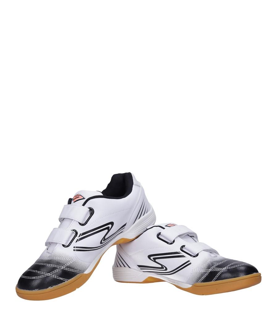 Białe buty sportowe halówki na rzepy Casu A1712-2 kolor biały, czarny