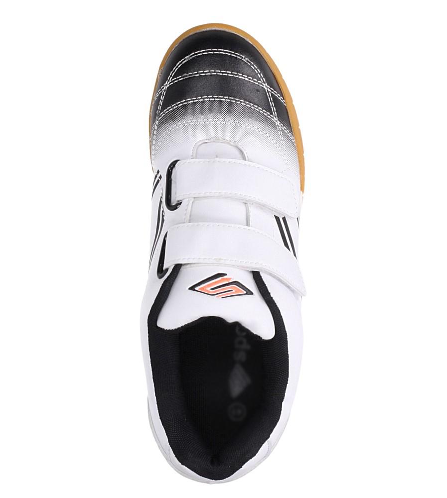 Białe buty sportowe halówki na rzepy Casu A1712-2 wys_calkowita_buta 12.5 cm