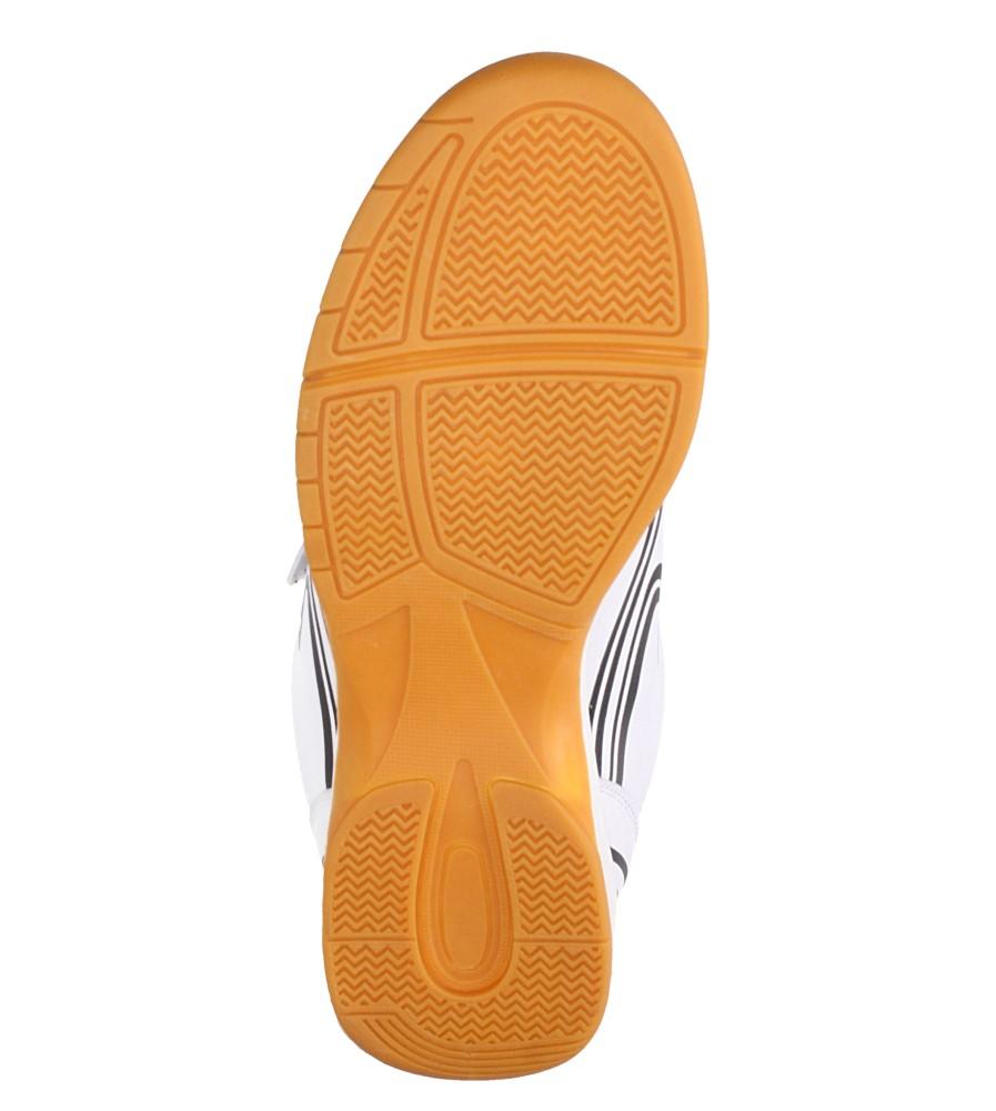 Białe buty sportowe halówki na rzepy Casu A1712-2 wierzch skóra ekologiczna