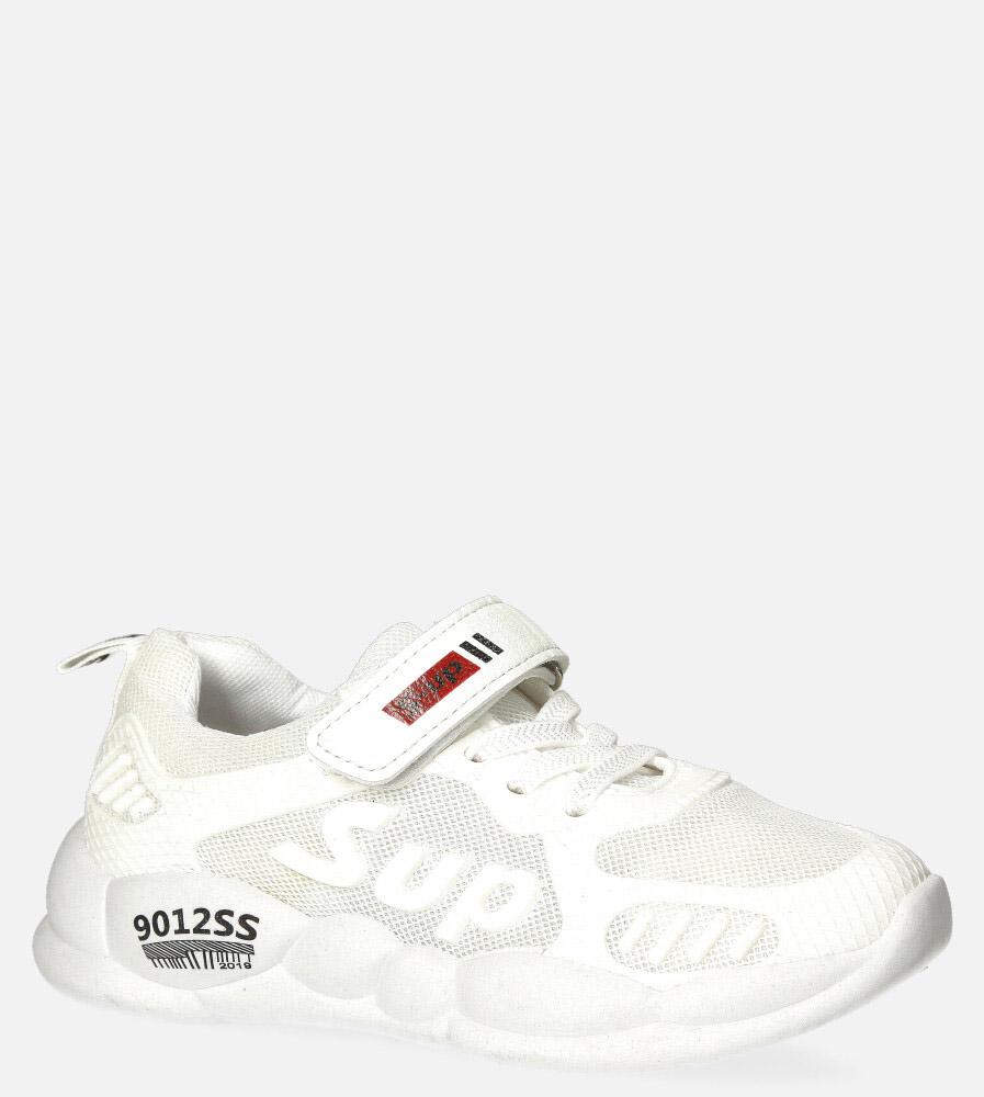 Białe buty sportowe na rzep Casu 204/13M biały