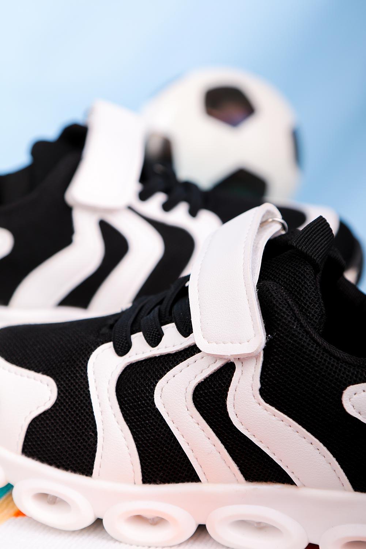 Białe buty sportowe na rzep Casu 204/26M  biały
