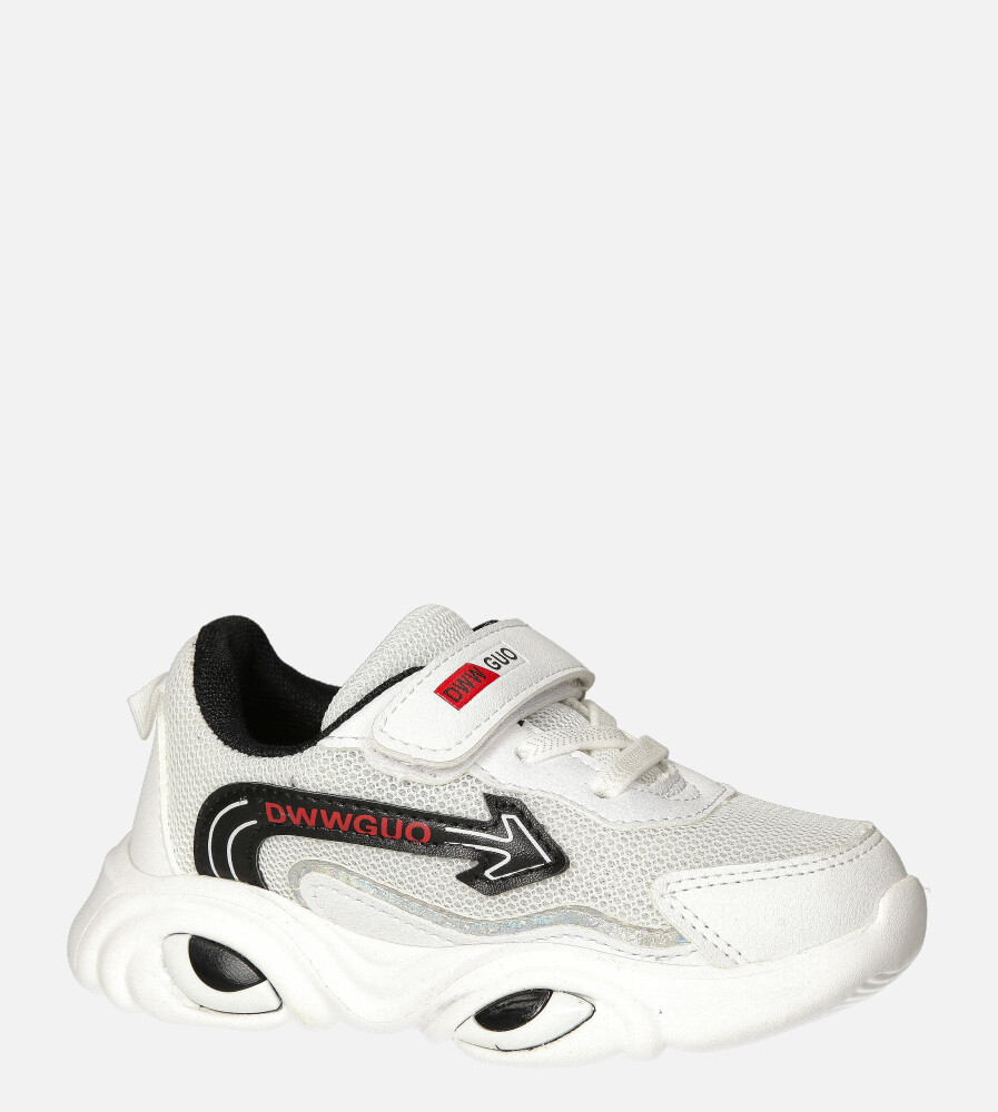 Białe buty sportowe na rzep Casu 20T6/M biały
