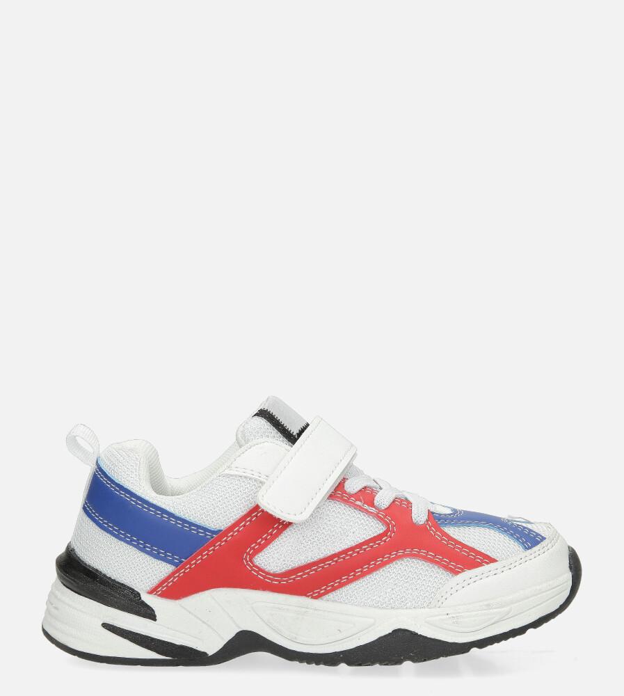 Białe buty sportowe na rzep Casu CT3 biały