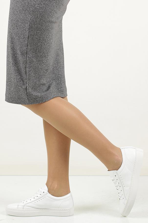 Białe buty sportowe skórzane sznurowane Creator S-1872AS