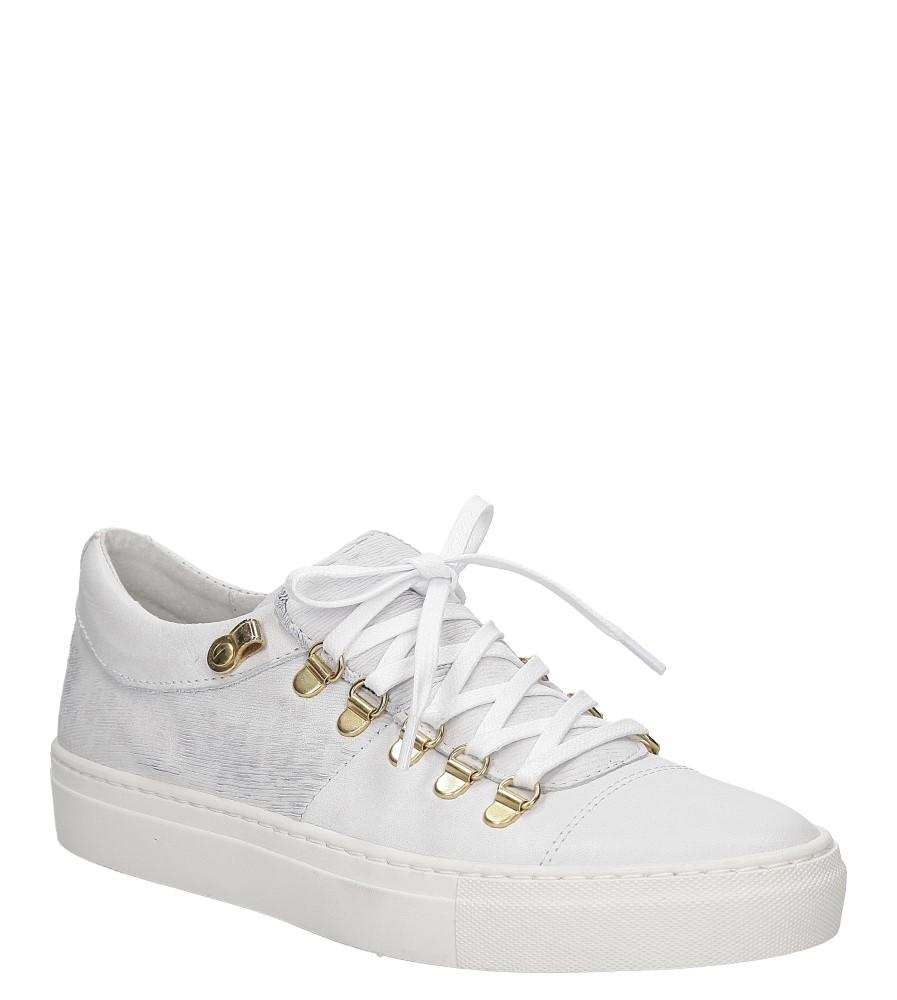 Białe buty sportowe skórzane sznurowane Creator S-2413T