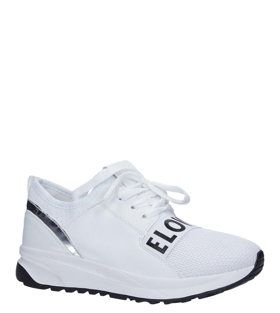 4df46c04 ... Białe buty sportowe sneakersy na platformie sznurowane Casu 956-2