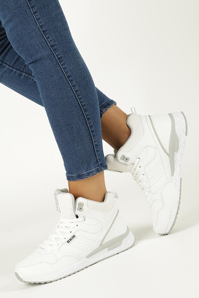 0737642c ... Białe buty sportowe sneakersy ocieplane sznurowane Big Star BB274638  model BB274638 ...
