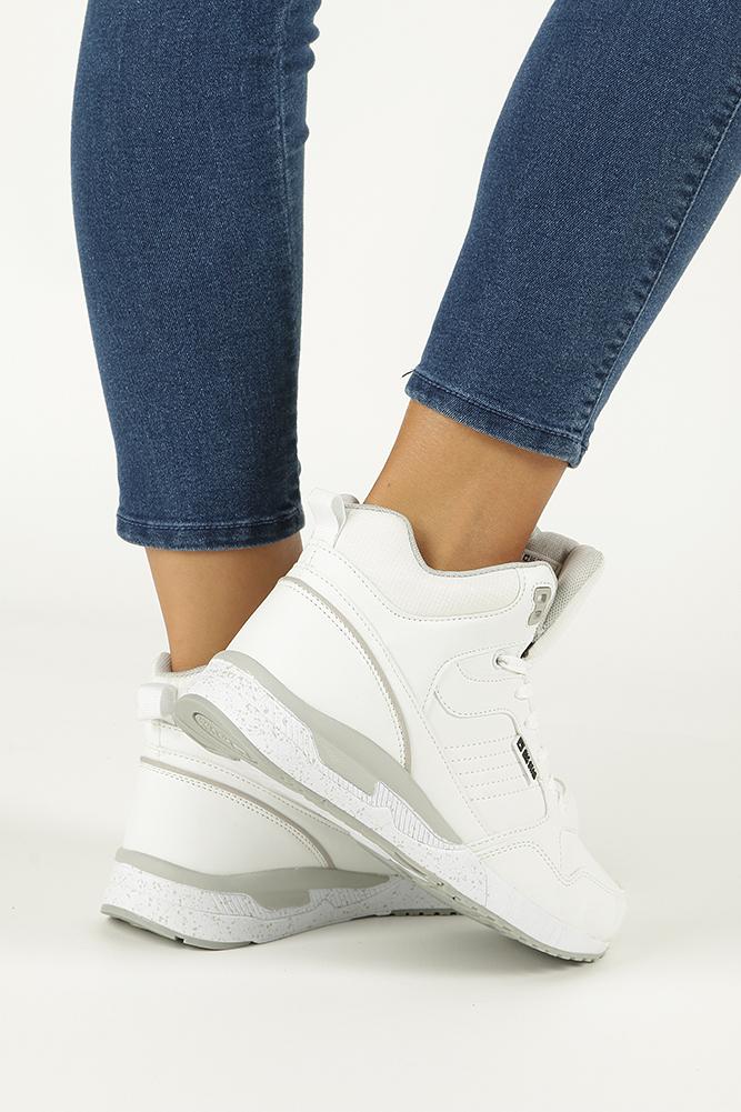 5a269fce ... Białe buty sportowe sneakersy ocieplane sznurowane Big Star BB274638  kolor biały ...