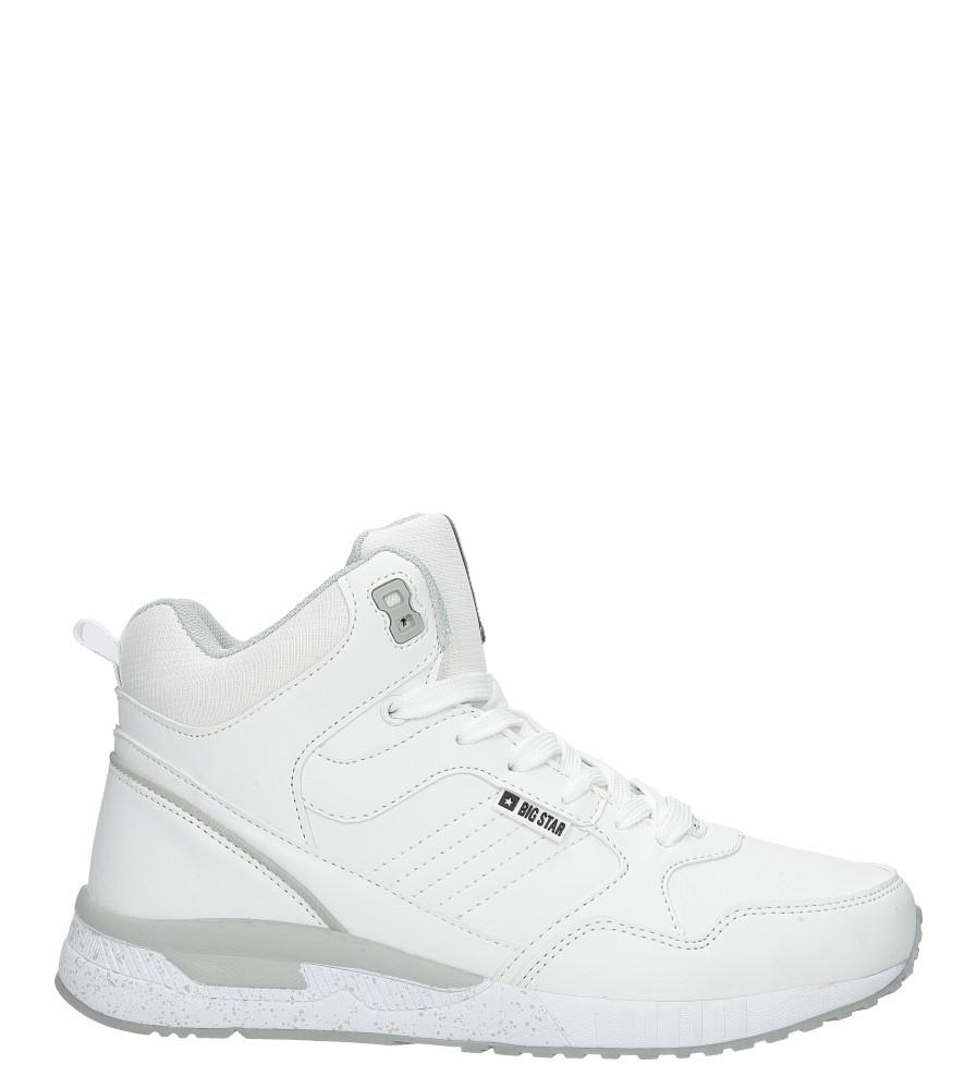 a900206b ... Białe buty sportowe sneakersy ocieplane sznurowane Big Star BB274638  wys_calkowita_buta 13 cm ...
