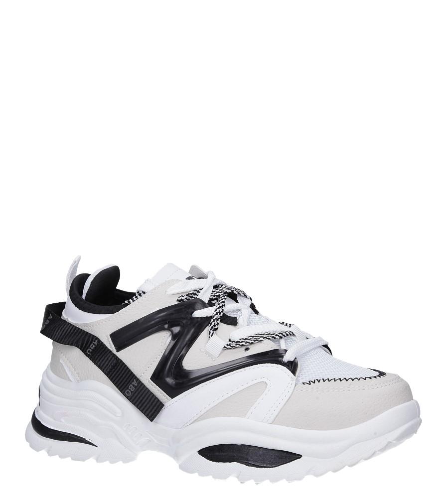 Białe buty sportowe sneakersy sznurowane Casu 180816 biały