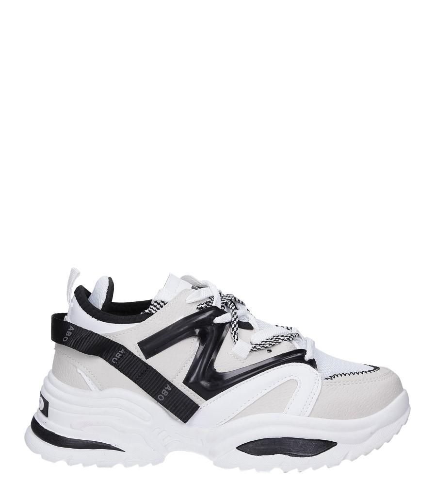 Białe buty sportowe sneakersy sznurowane Casu 180816