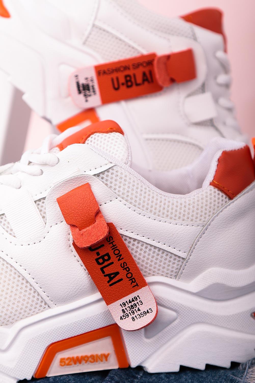 Białe buty sportowe sneakersy sznurowane Casu 20F5/O biały