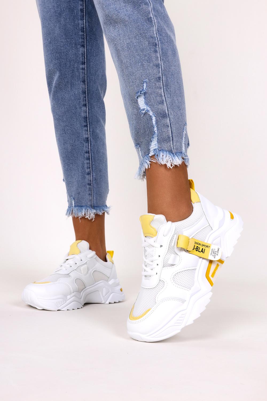 Białe buty sportowe sneakersy sznurowane Casu 20F5/Y biały