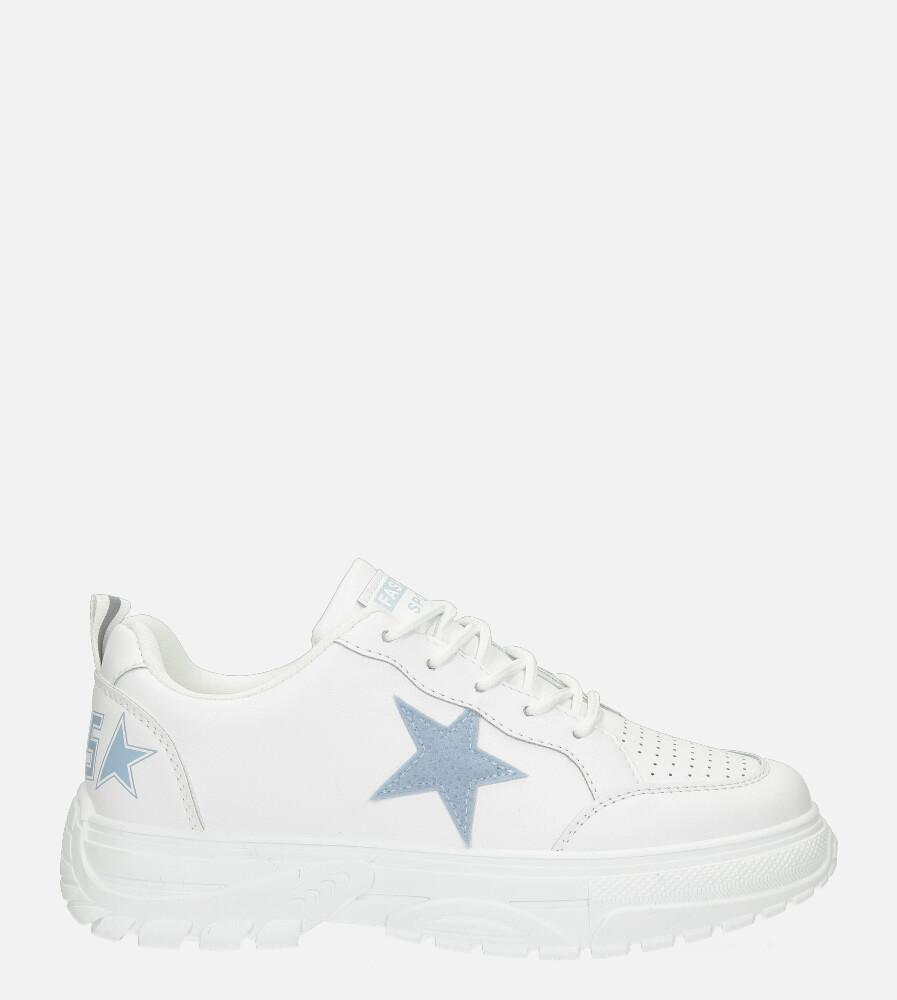 Białe buty sportowe sneakersy sznurowane Casu 20G15/BL